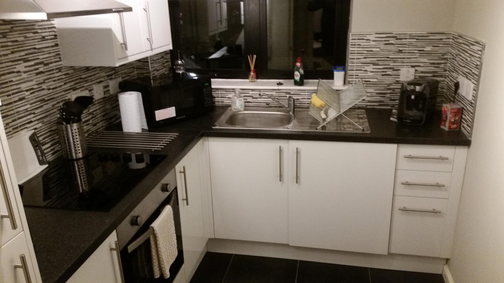 Kitchen at Glasgow Pacific Quay Apartments, Kinning Park, Glasgow - Citybase Apartments