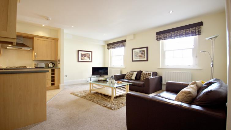 Living room at Eldon Lodge Apartments - Citybase Apartments