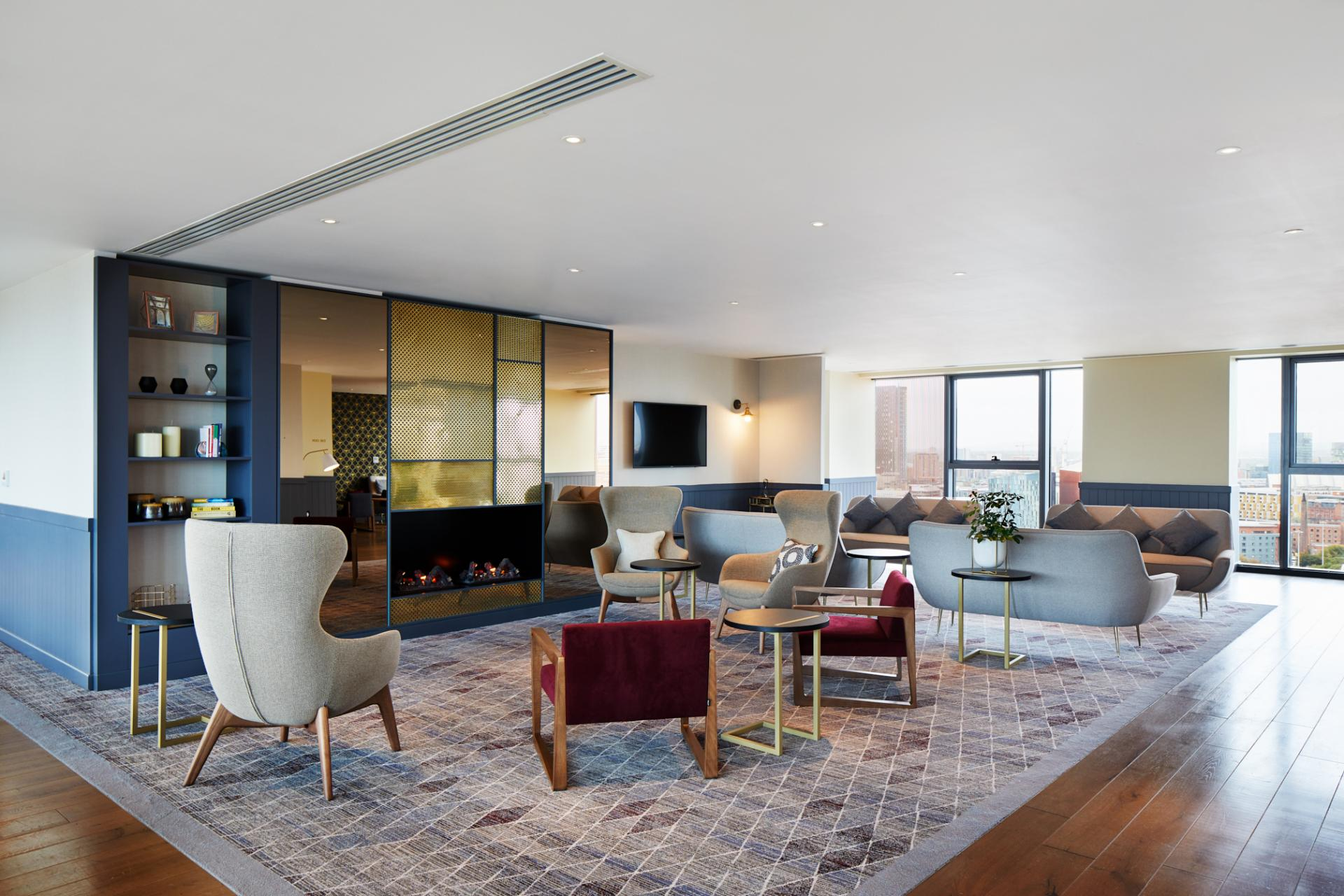Lobby at Hyatt House Manchester, Hulme, Manchester - Citybase Apartments