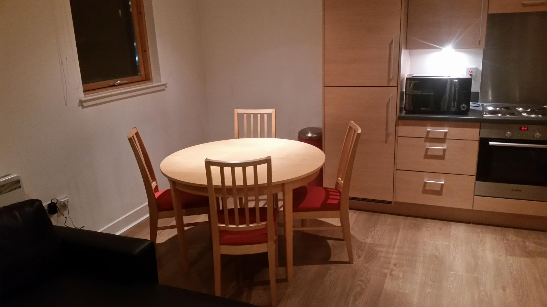 Dining table at Glasgow Skyline Apartments, Centre, Glasgow - Citybase Apartments