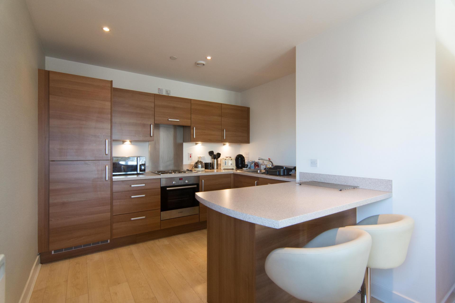 Kitchen at Glasgow Skyline Apartments, Centre, Glasgow - Citybase Apartments
