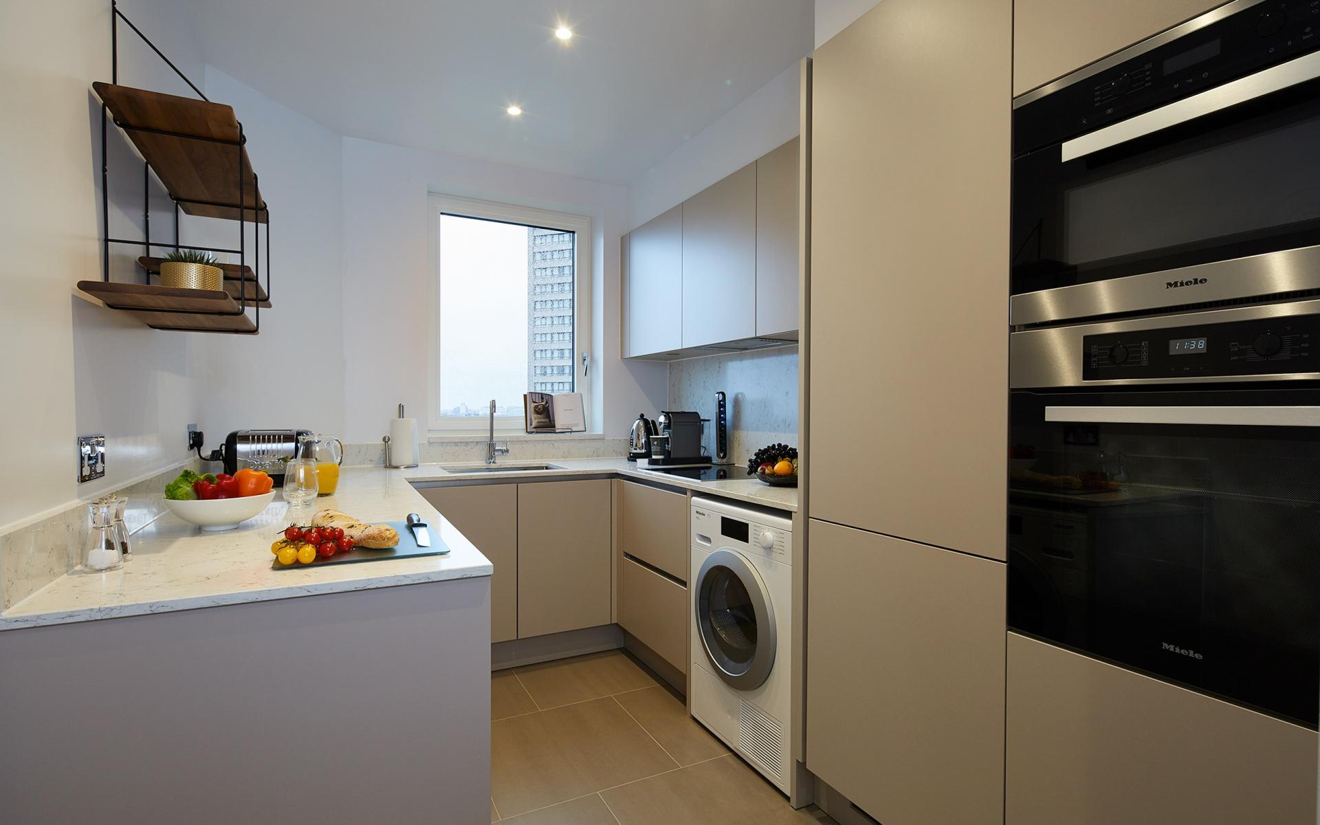 Kitchen at Cheval Gloucester Park, South Kensington, London - Citybase Apartments