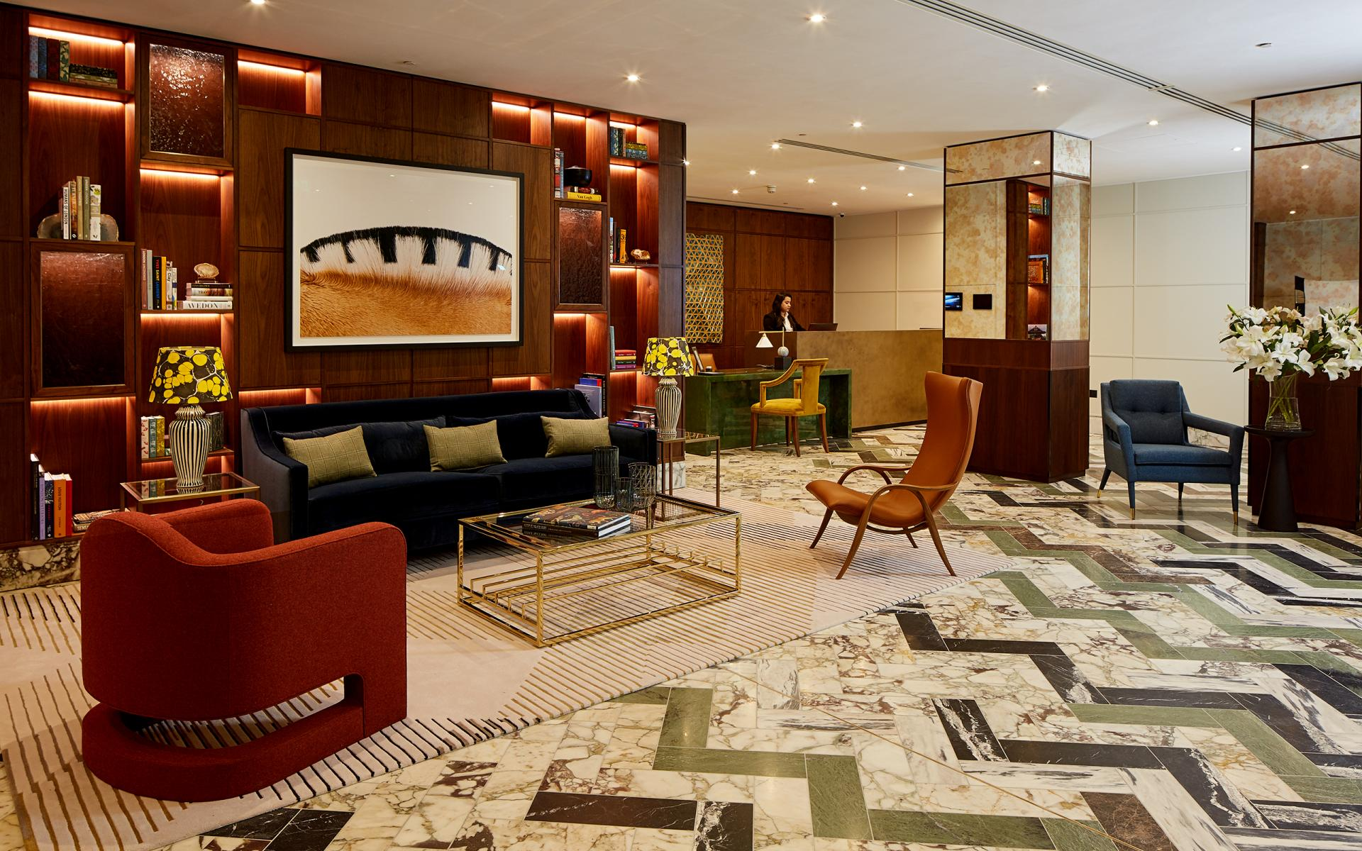 Lobby at Cheval Gloucester Park, South Kensington, London - Citybase Apartments