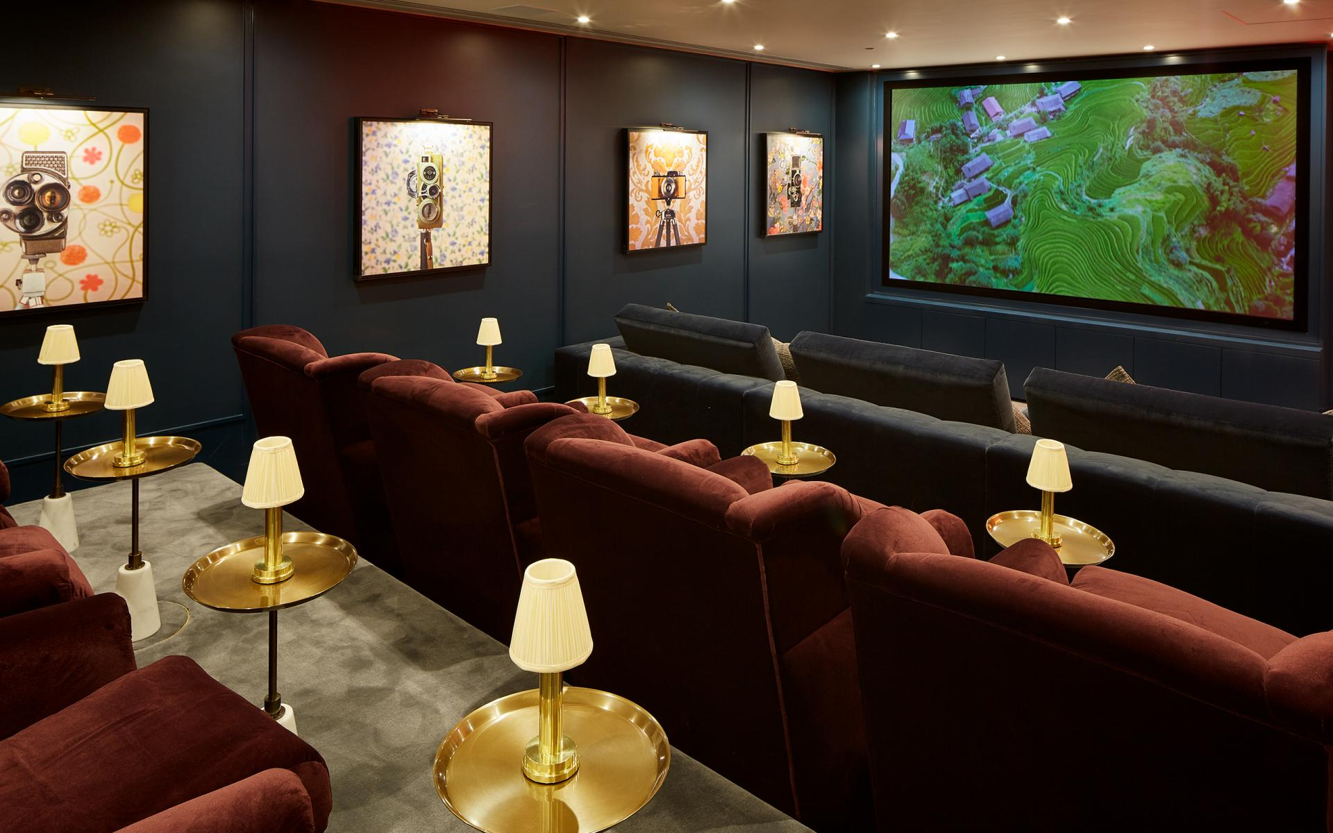 Cinema at Cheval Gloucester Park, South Kensington, London - Citybase Apartments