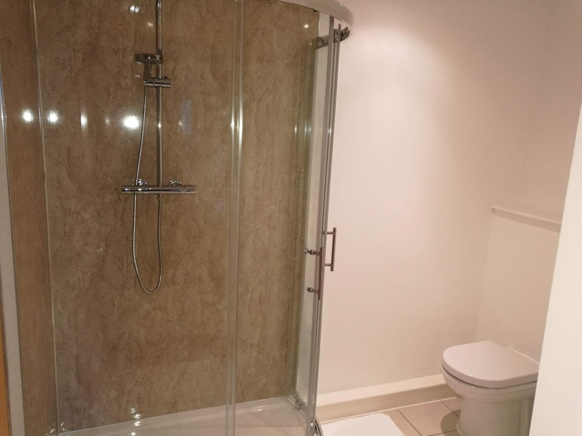 Shower at Glasgow Central River Apartments, Centre, Glasgow - Citybase Apartments