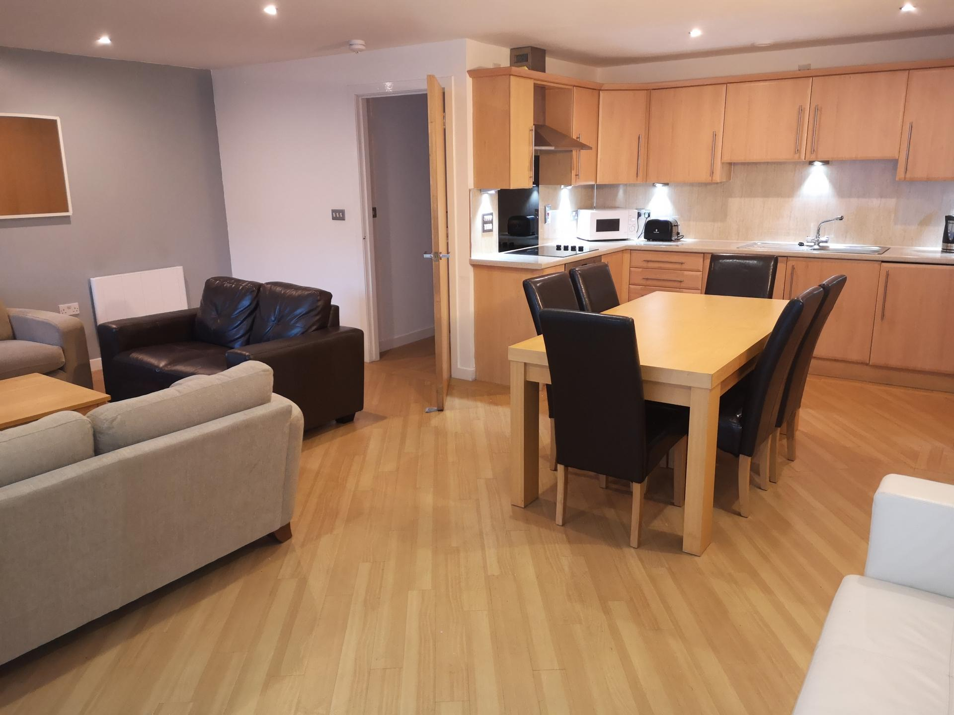 Kitchen at Glasgow Central River Apartments, Centre, Glasgow - Citybase Apartments