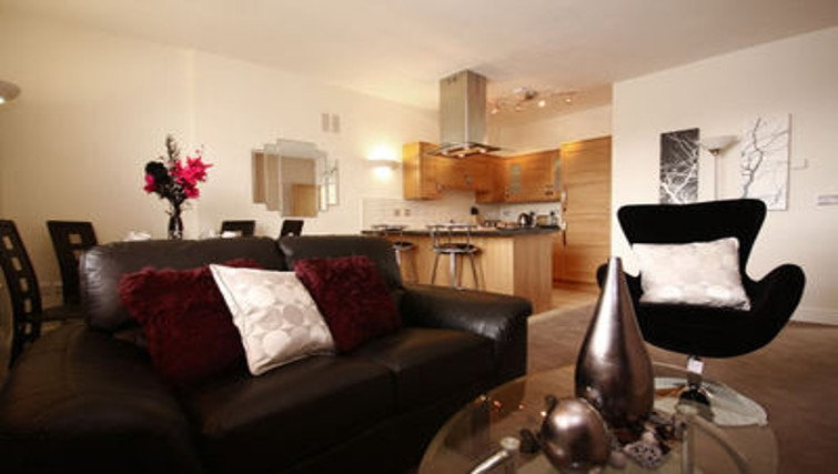 Sophisticated living area in Montague Apartments - Citybase Apartments