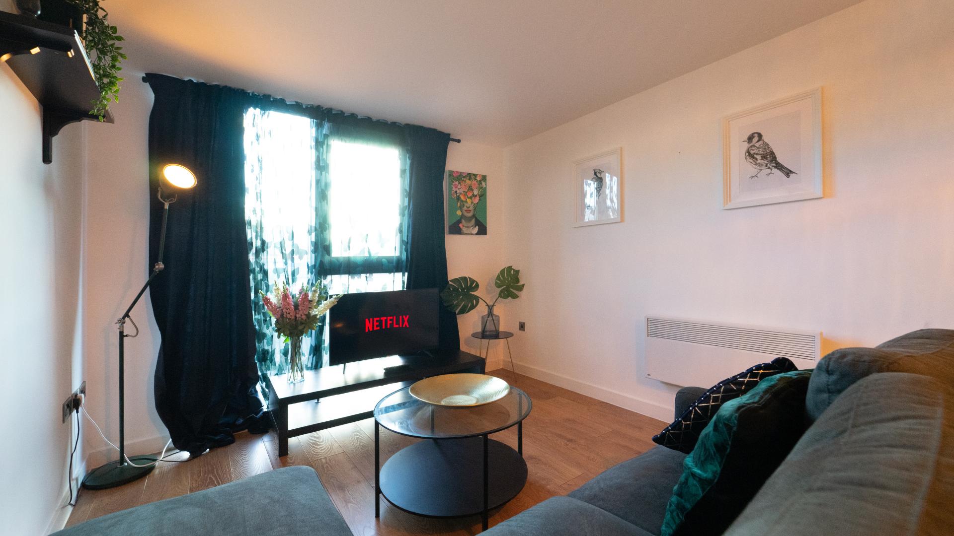 Sofa at Quarter Blonk Street Apartments, Centre, Sheffield - Citybase Apartments