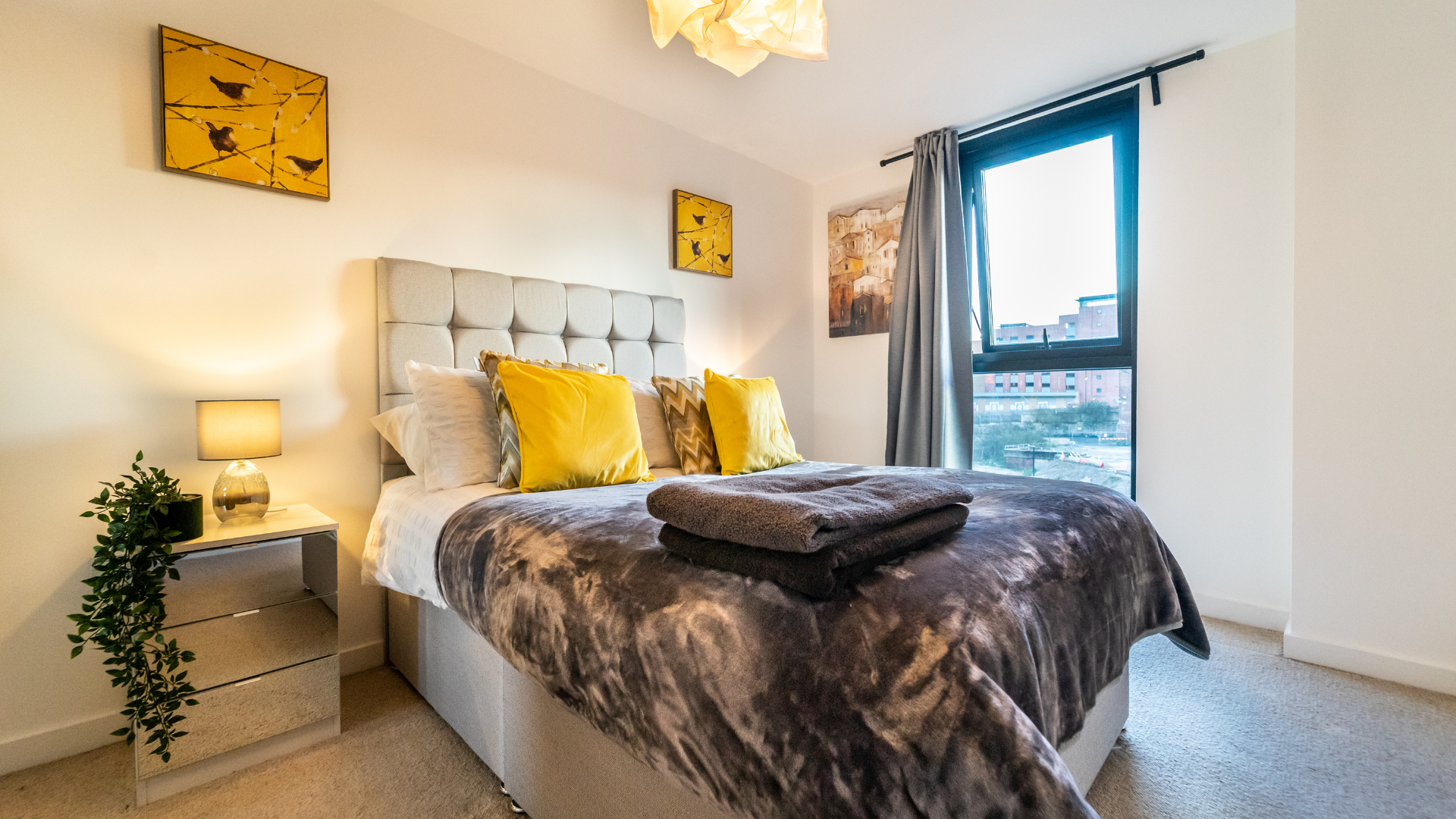 Comfortable bed at Quarter Blonk Street Apartments, Centre, Sheffield - Citybase Apartments