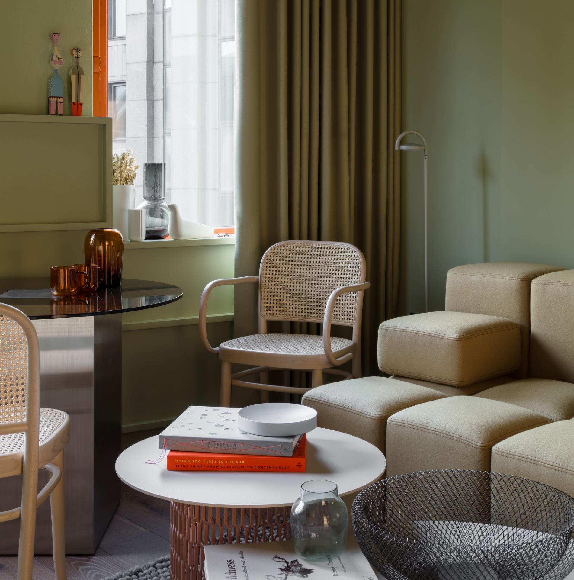 Living area at Locke at Broken Wharf Apartments, City, London - Citybase Apartments