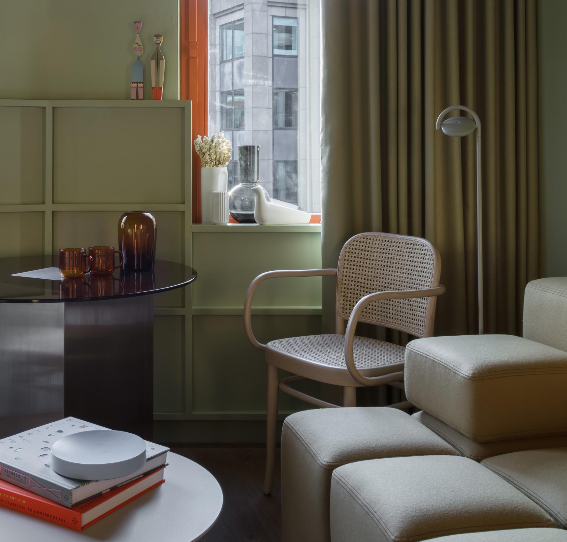 Armchair at Locke at Broken Wharf Apartments, City, London - Citybase Apartments