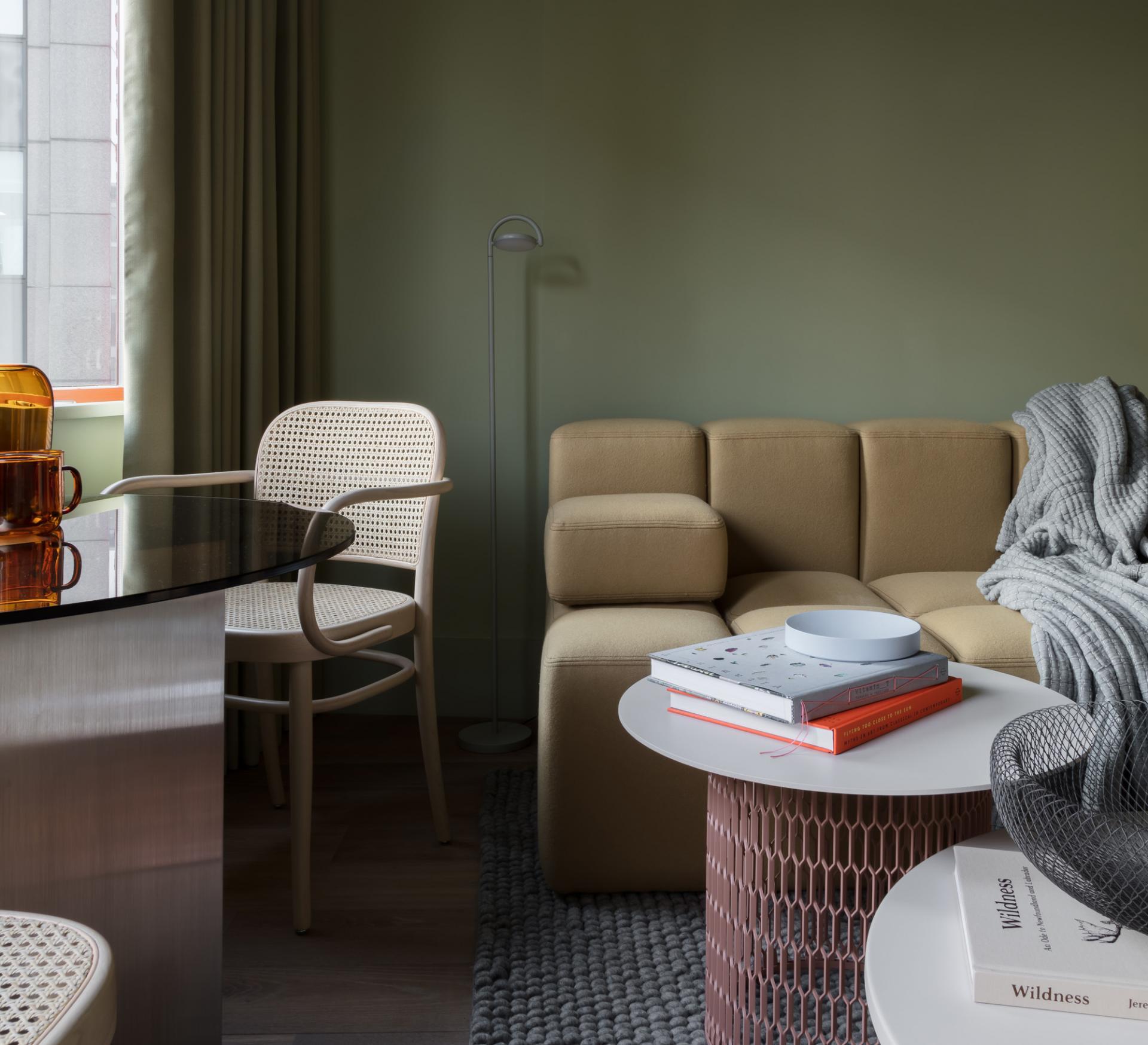 Sofa at Locke at Broken Wharf Apartments, City, London - Citybase Apartments