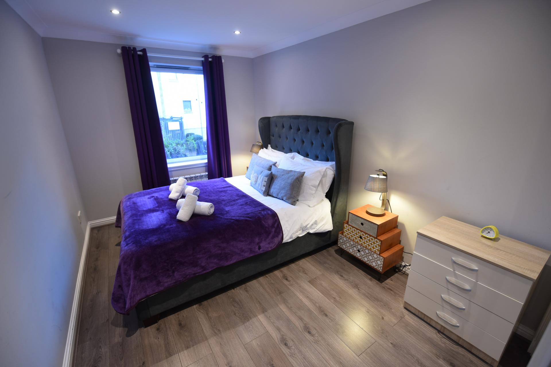 Bedroom at St Johns Hill Apartment, Old Town, Edinburgh - Citybase Apartments