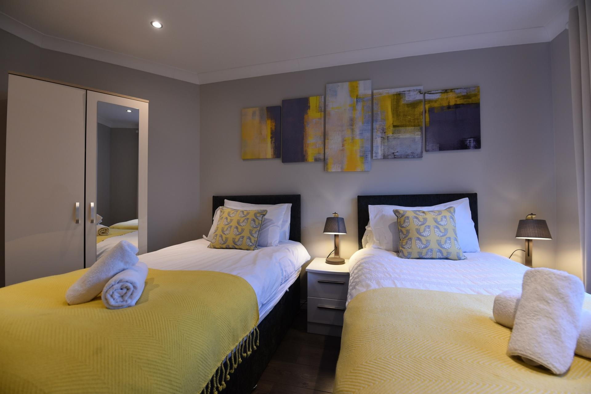 Bedroom 2 at St Johns Hill Apartment, Old Town, Edinburgh - Citybase Apartments