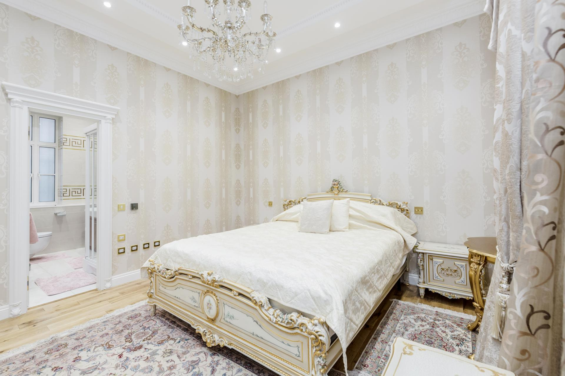 Bedroom at Grosvenor Square Apartment, Mayfair, London - Citybase Apartments