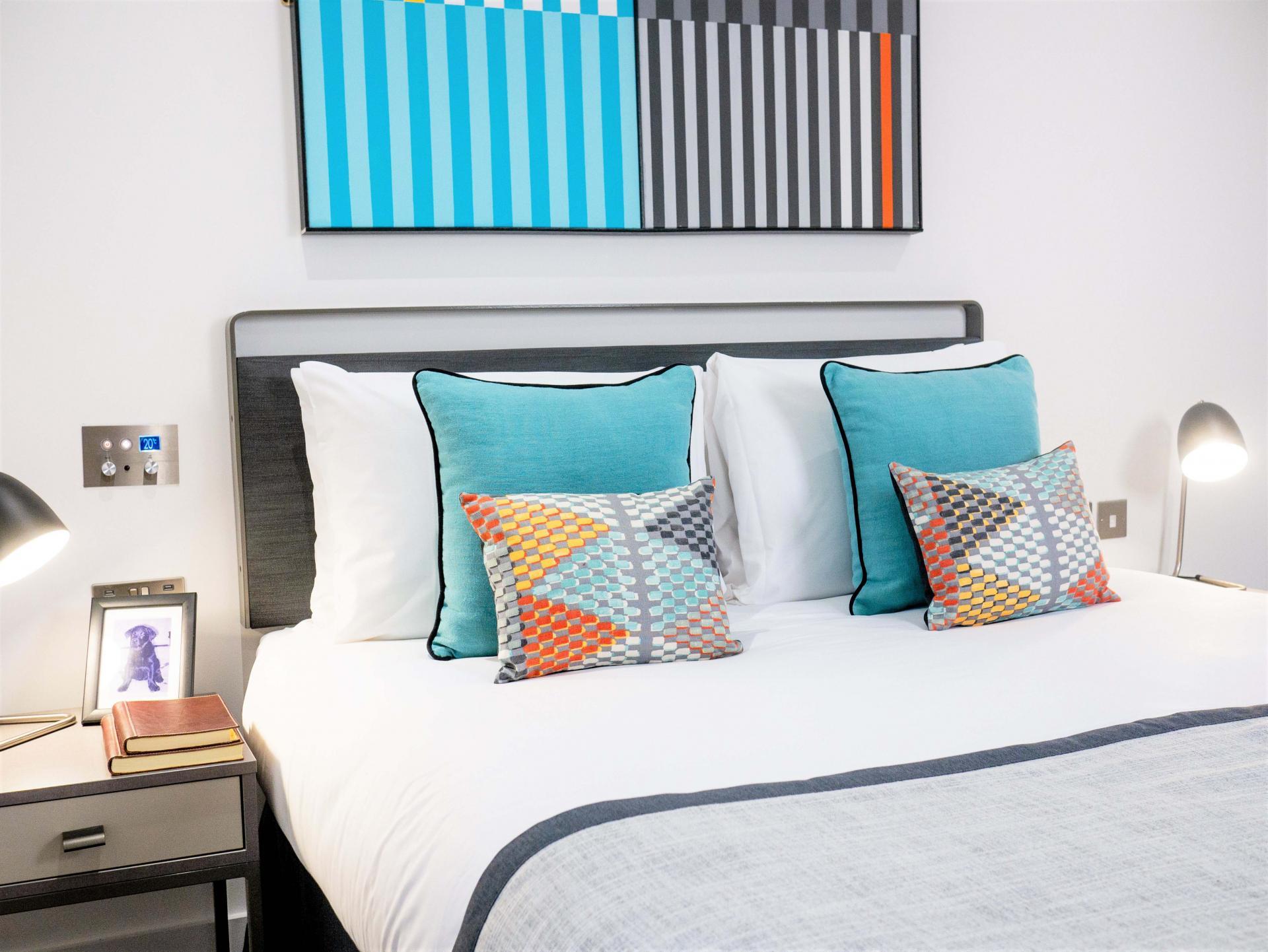 Bed at Q Square Aparthotel, Centre, Brighton - Citybase Apartments
