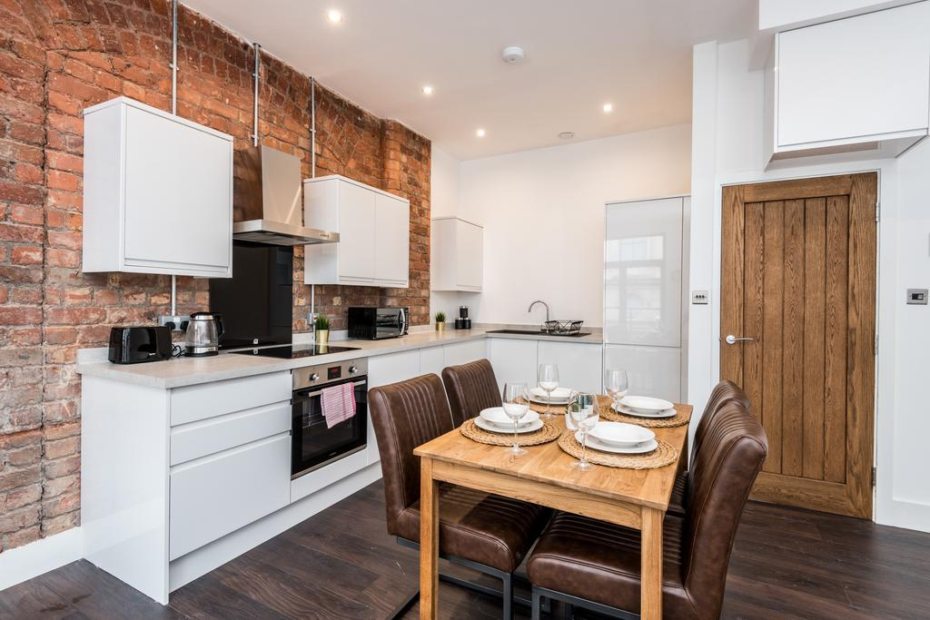 Kitchen at Stanley Street Serviced Apartments, Centre, Liverpool - Citybase Apartments