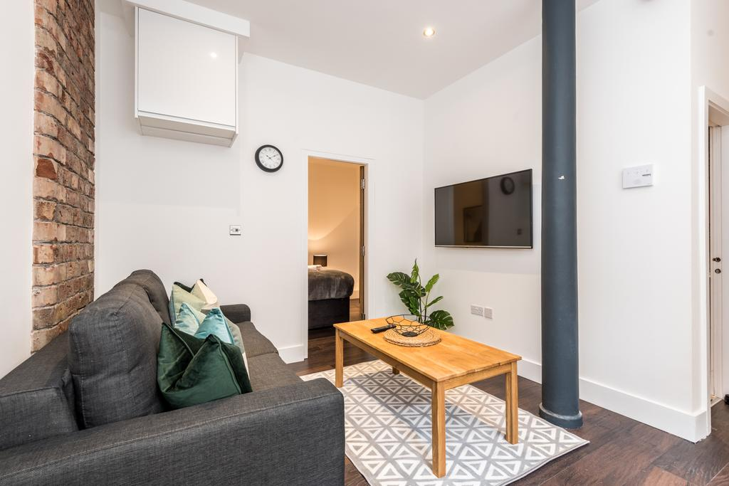 Sofa at Stanley Street Serviced Apartments, Centre, Liverpool - Citybase Apartments