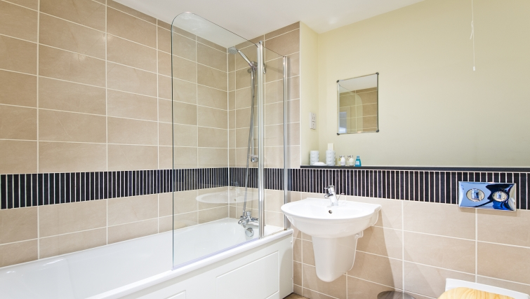 Superb bathroom in Woodgate Court Apartments - Citybase Apartments