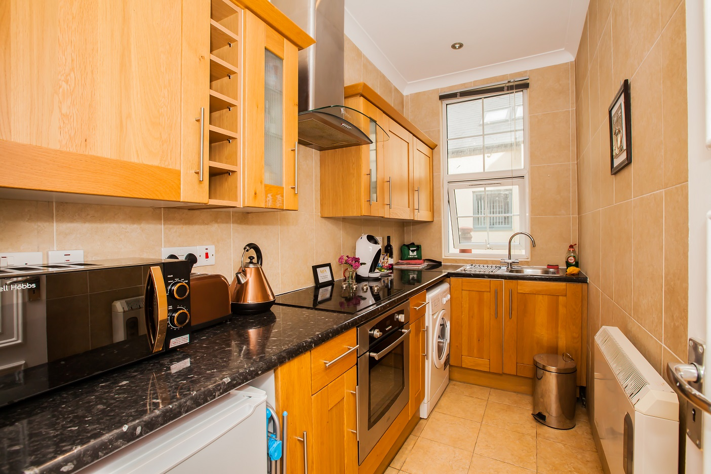 Kitchen at Marylebone Serviced Apartments, Marylebone, London - Citybase Apartments
