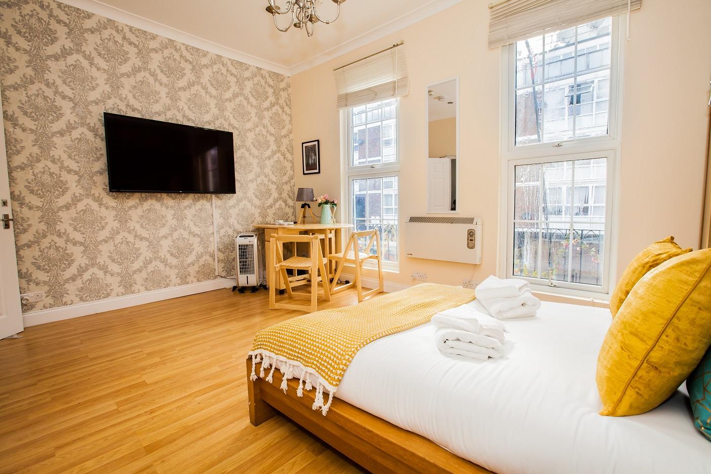 Bed at Marylebone Serviced Apartments, Marylebone, London - Citybase Apartments
