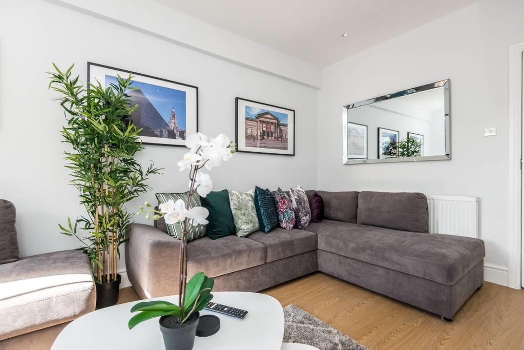 Living room at Falkner Street Apartments, Ropewalks, Liverpool - Citybase Apartments