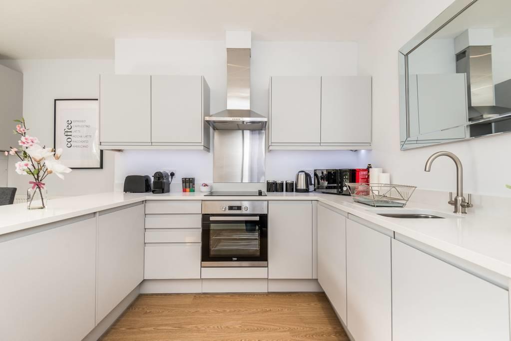Kitchen at Falkner Street Apartments, Ropewalks, Liverpool - Citybase Apartments