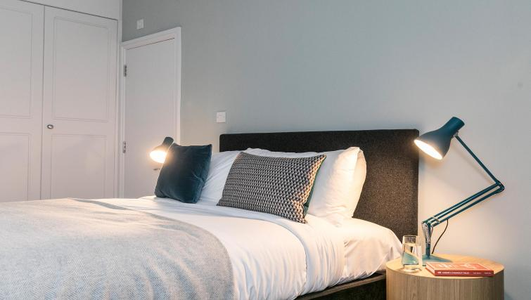 Modern bedroom at Native Fenchurch Street Apartments - Citybase Apartments