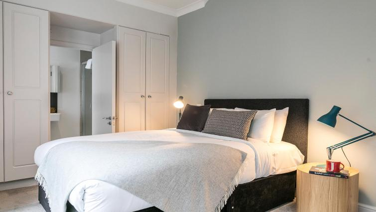 Stylish bedroom at Native Fenchurch Street Apartments - Citybase Apartments