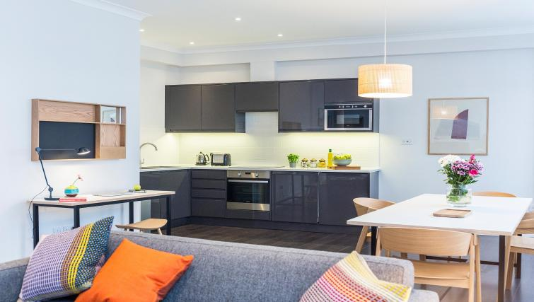 Modern kitchen area atNative Fenchurch Street Apartments - Citybase Apartments