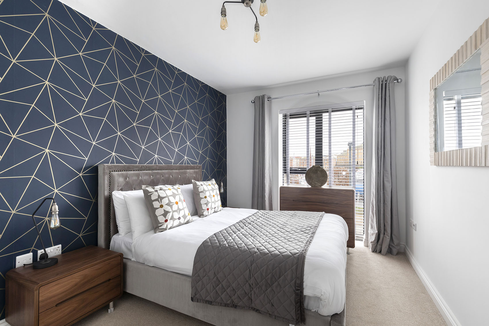 Bed at Mariners Court Apartment, The Docks, Gloucester - Citybase Apartments