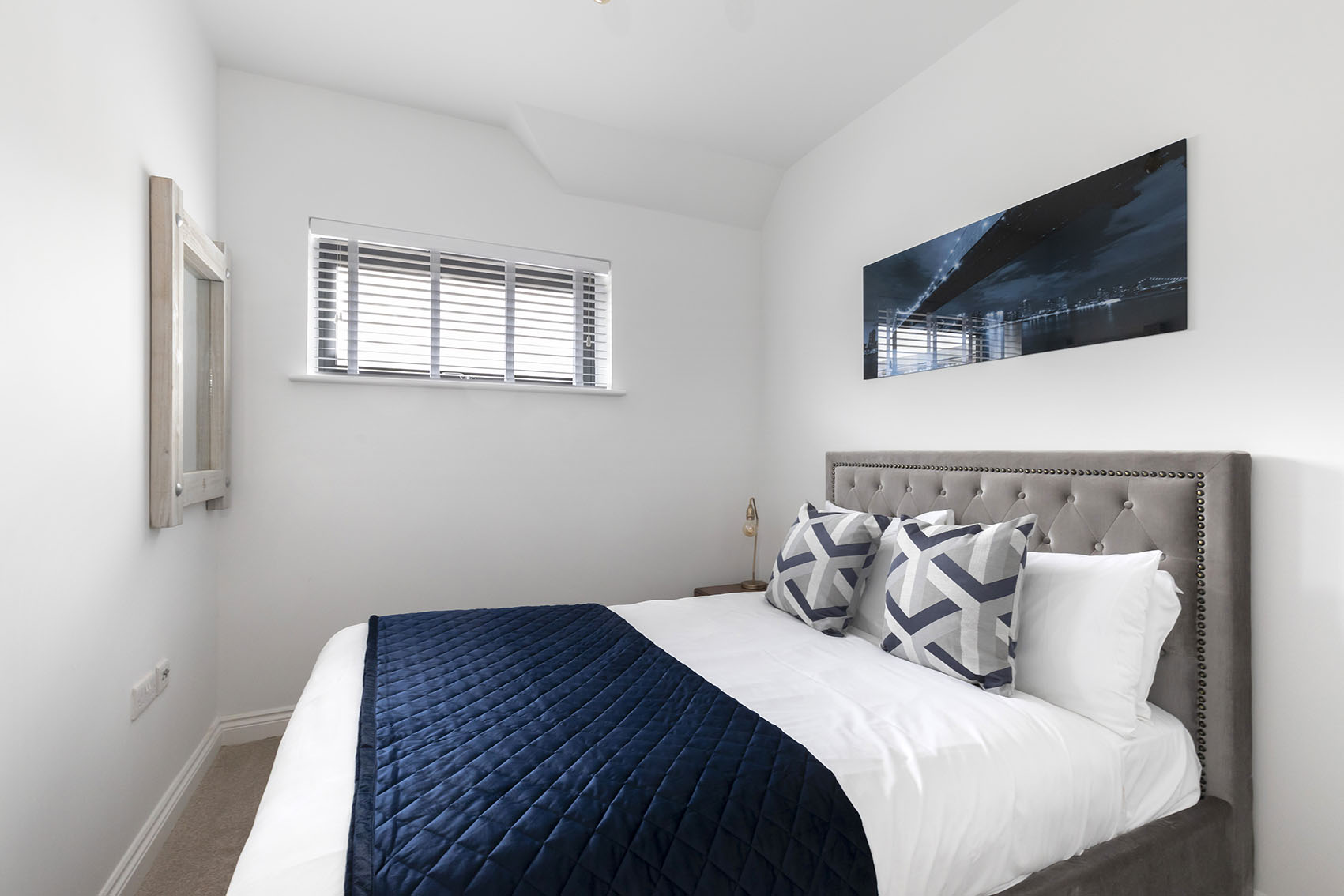 Bed at Apartment 12 Mariners Court, The Docks, Gloucester - Citybase Apartments