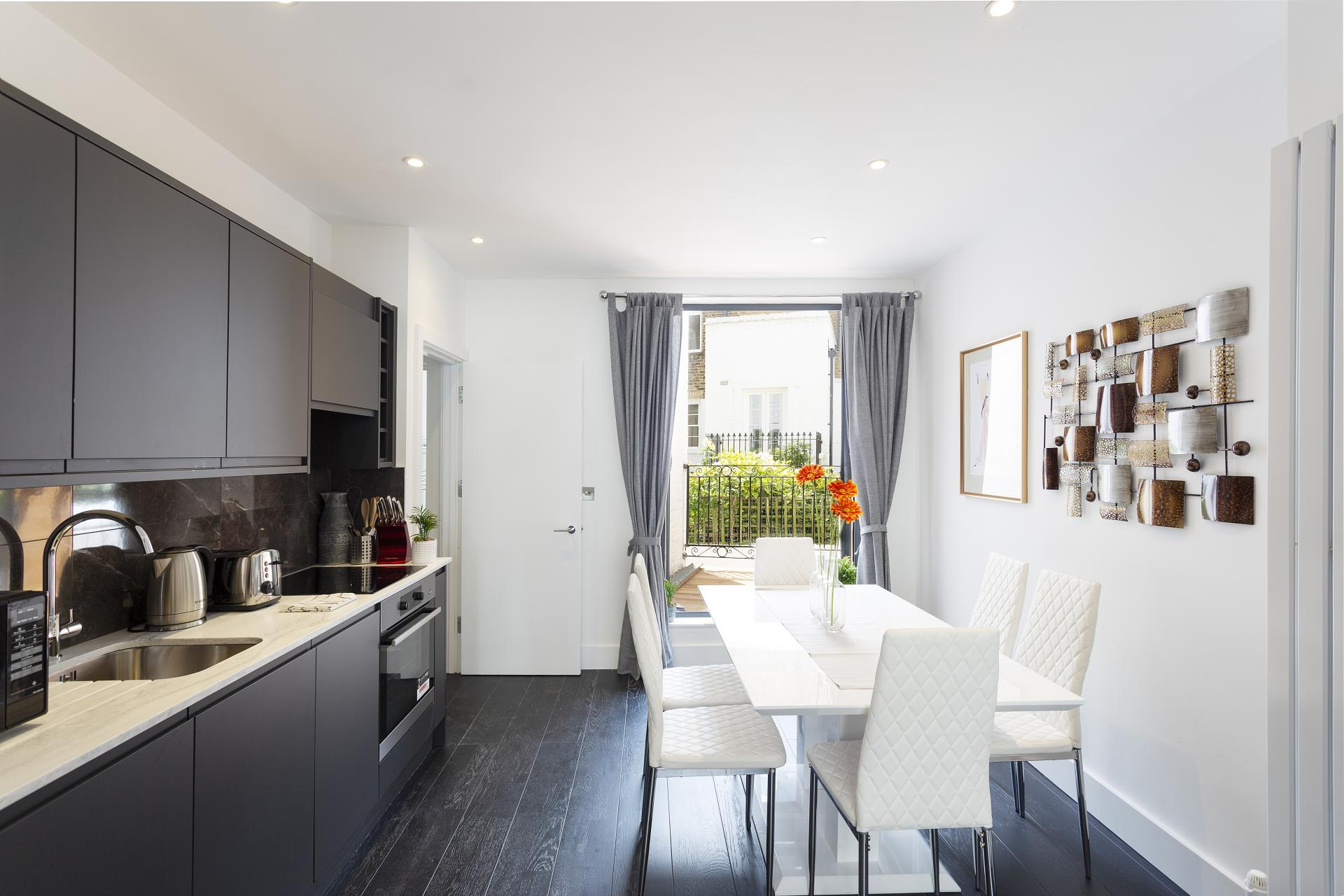Kitchen 1 at Luxury Knightsbridge House, Knightsbridge, London - Citybase Apartments