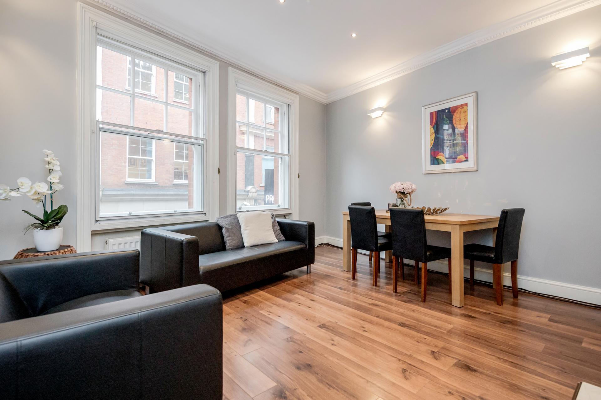 Sofa at Kensington High Street, Kensington, London - Citybase Apartments