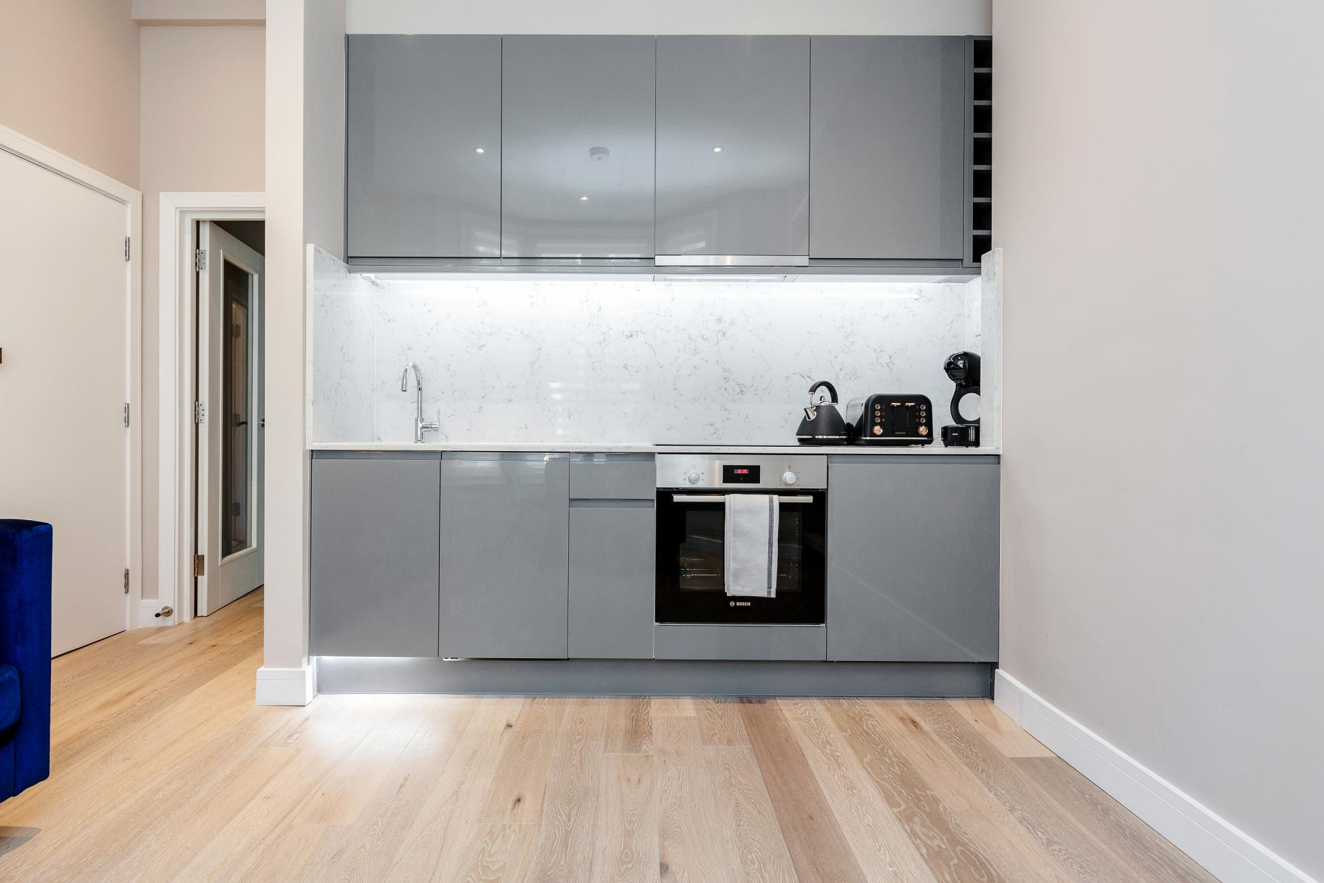 Kitchen at Notting Hill Style, Ladbroke Grove, London - Citybase Apartments