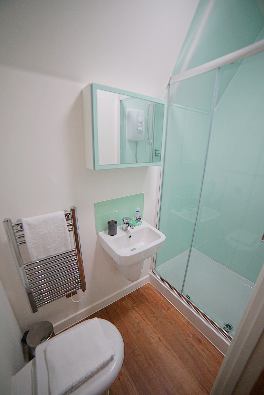 Shower at Prince Street Studios, Centre, Bristol - Citybase Apartments