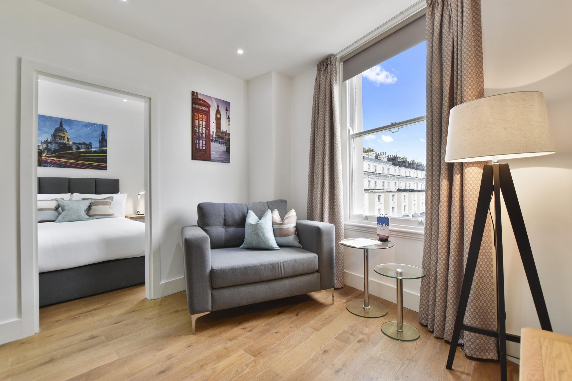 Lounge at Leinster Square by Bridgestreet, Bayswater, London - Citybase Apartments