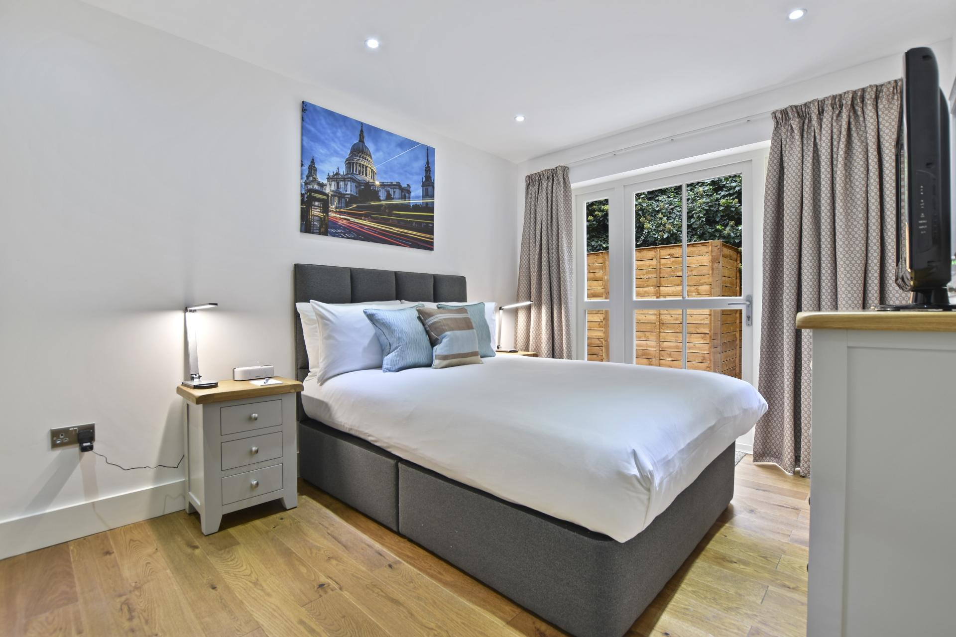 Bedroom at Leinster Square by Bridgestreet, Bayswater, London - Citybase Apartments