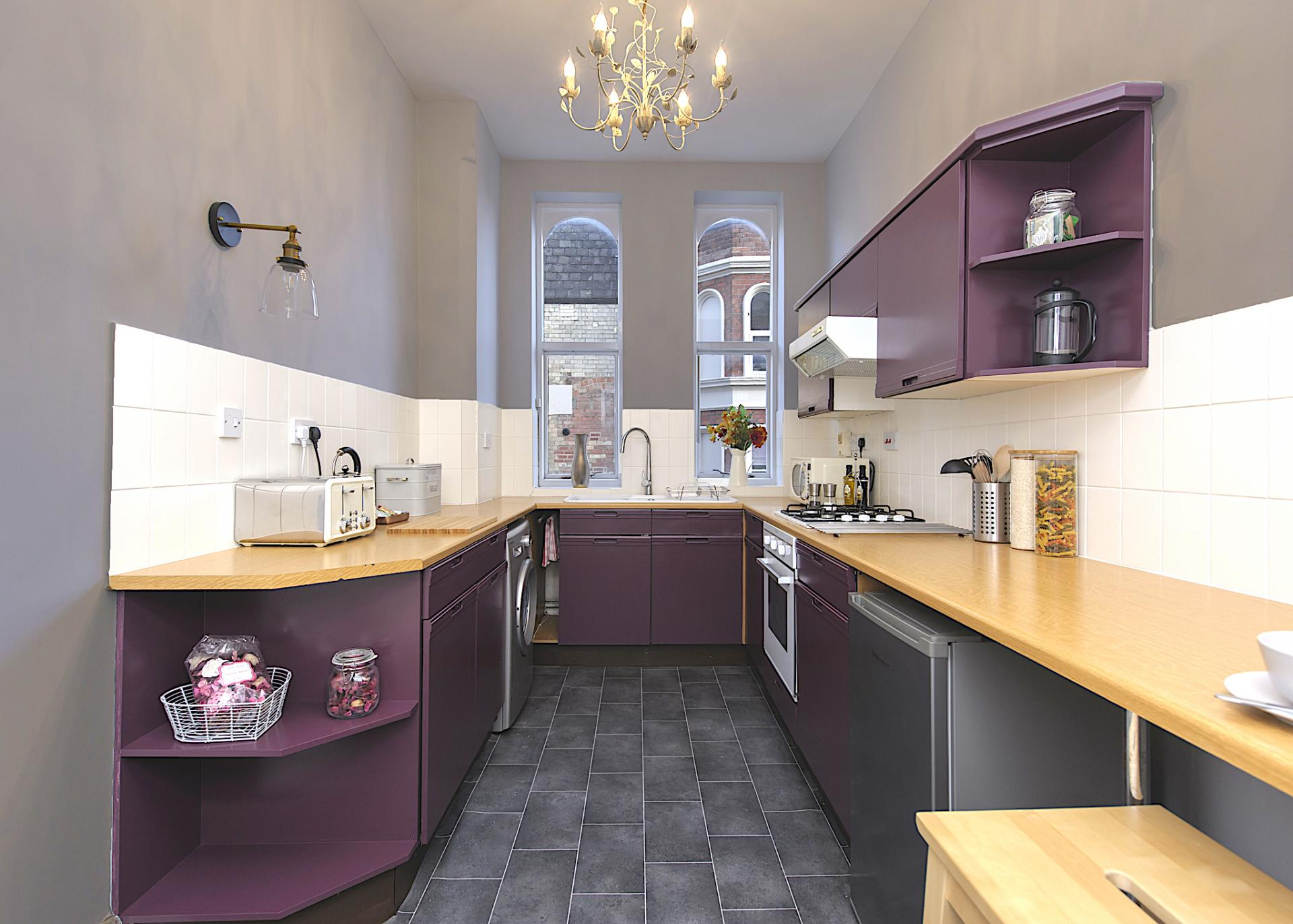 Kitchen at Nottingham Park View Apartment, Centre, Nottingham - Citybase Apartments