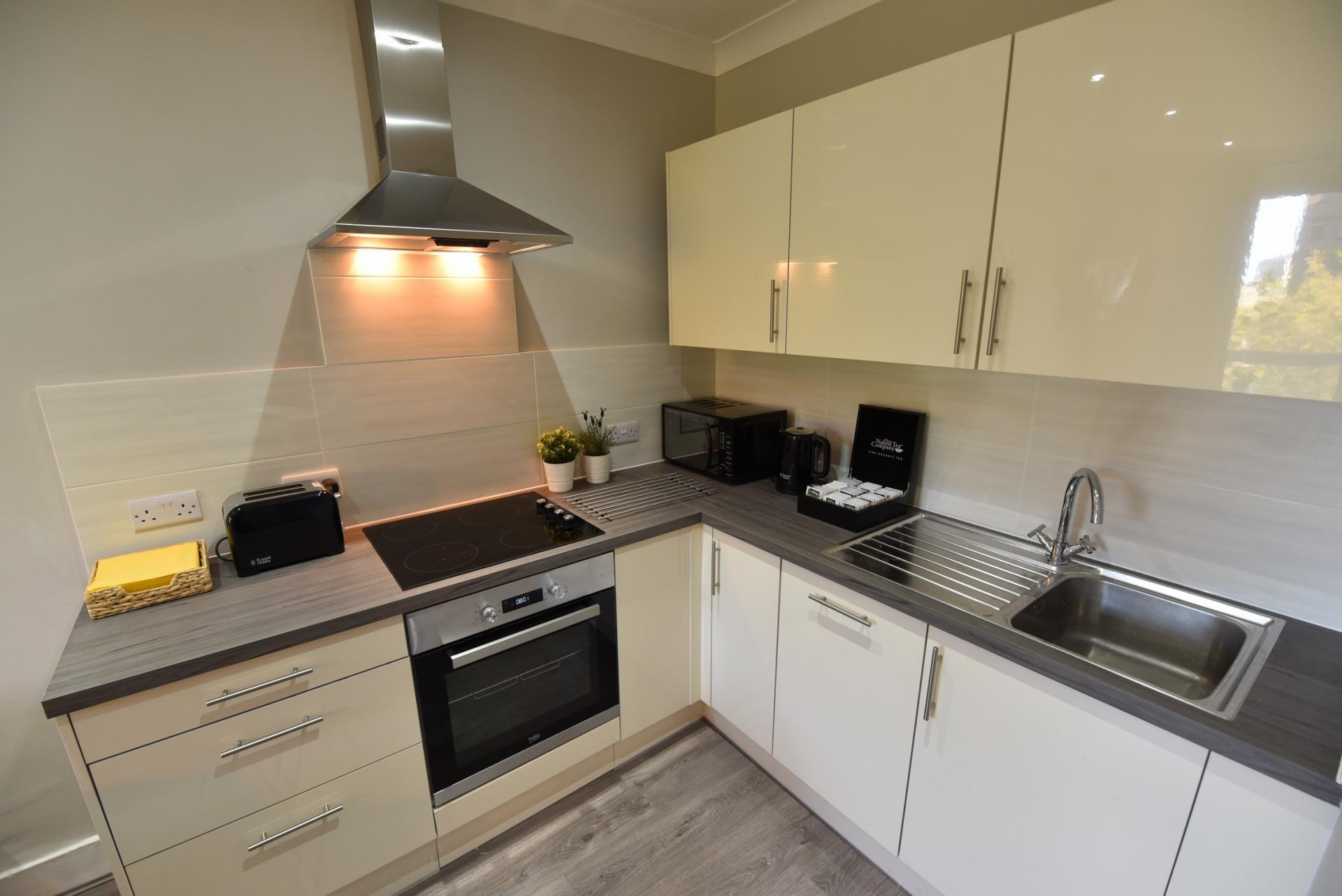 Kitchen at Meadowbank House Apartment, Jock's Lodge, Edinburgh - Citybase Apartments