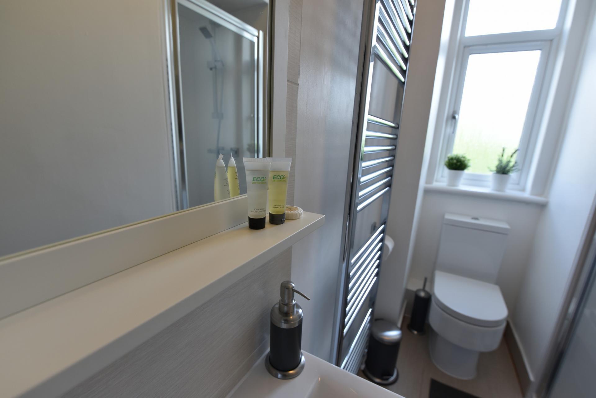 Bathroom at Meadowbank House Apartment, Jock's Lodge, Edinburgh - Citybase Apartments