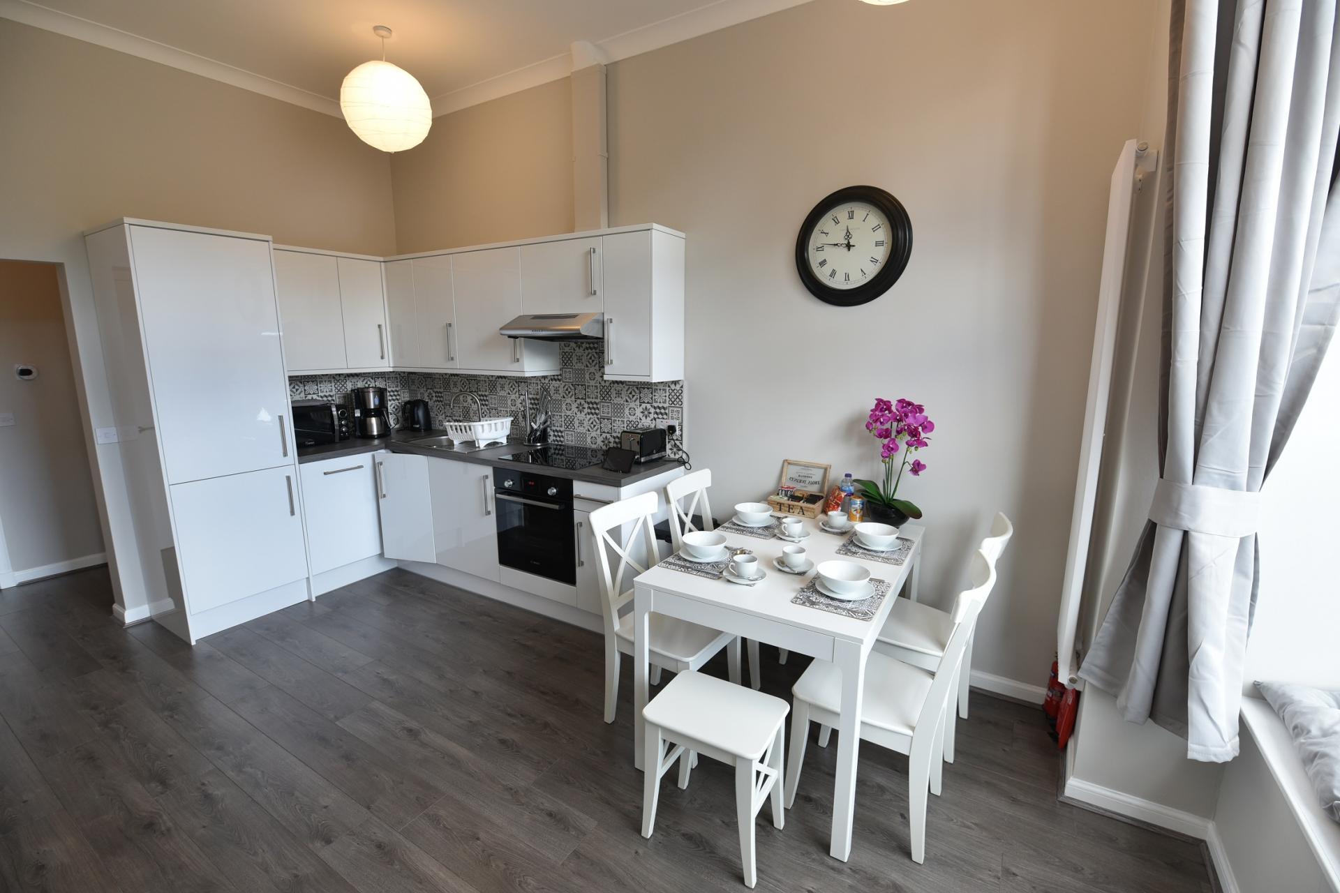 Kitchen at Pleasance Luxury Apartment, Newington, Edinburgh - Citybase Apartments