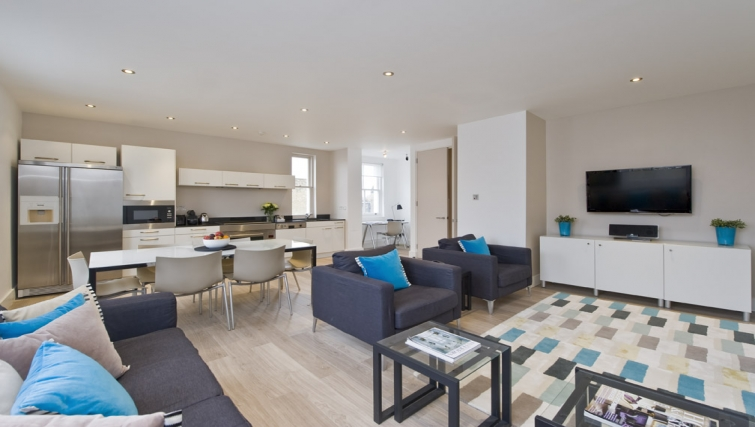 Stunning living area of Nevern Place Aparthotel - Citybase Apartments