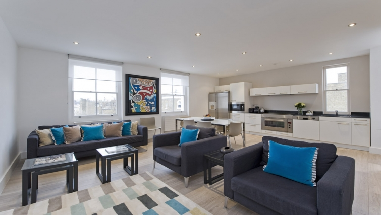 Open plan kitchen in Nevern Place Aparthotel - Citybase Apartments