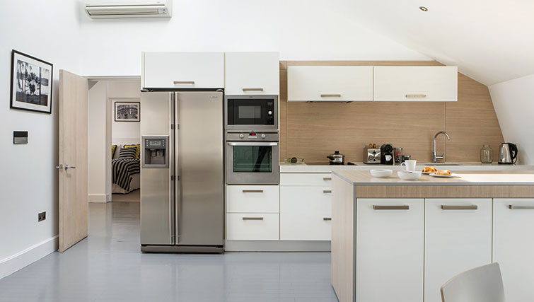 Kitchen facilities at Nevern Place Aparthotel - Citybase Apartments