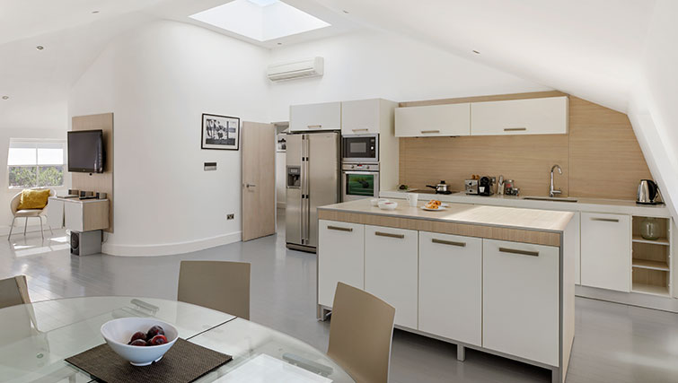Modern kitchen at Nevern Place Aparthotel - Citybase Apartments