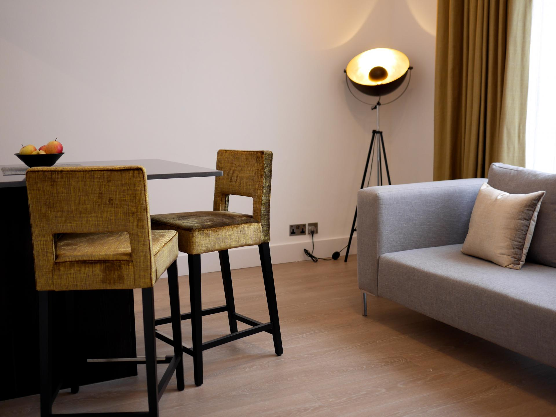 Dining area at Nevern Place Aparthotel, Earls Court, London - Citybase Apartments