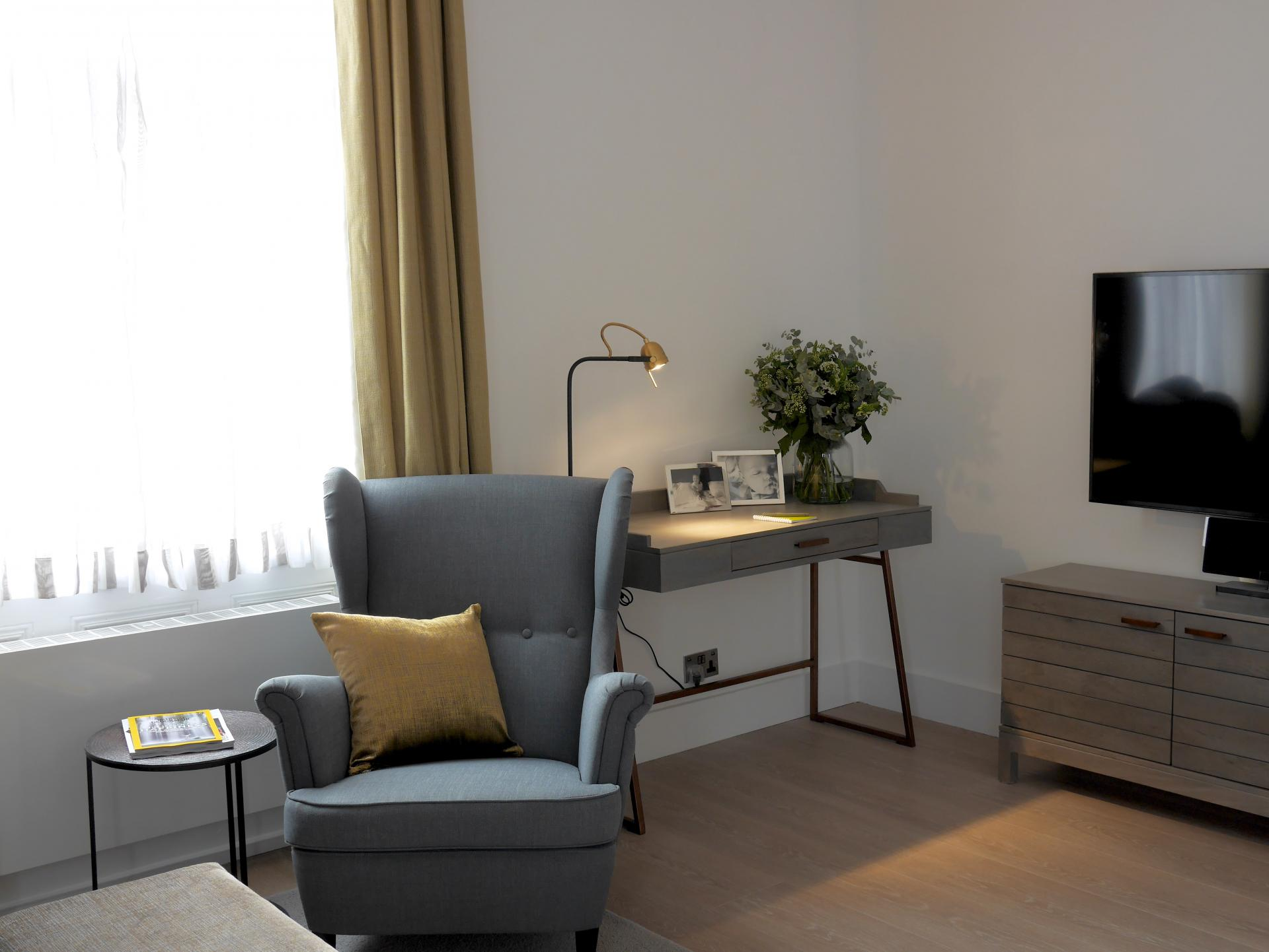 Chair at Nevern Place Aparthotel, Earls Court, London - Citybase Apartments