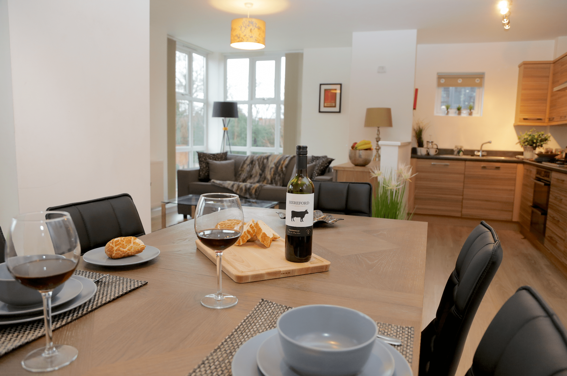 Dining table at Gateway Apartment Nottingham, Wilford, Nottingham - Citybase Apartments