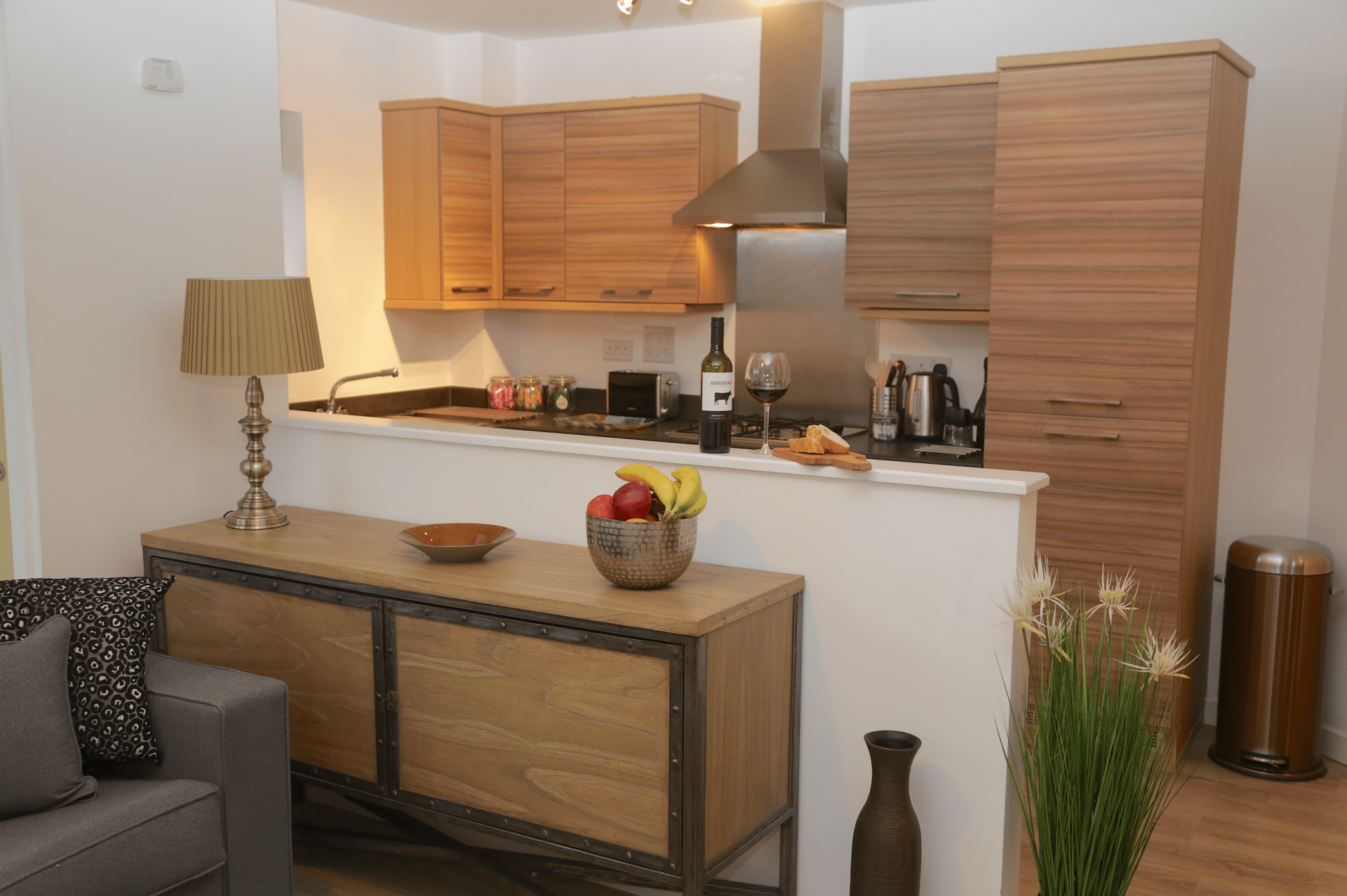 Modern kitchen at Gateway Apartment Nottingham, Wilford, Nottingham - Citybase Apartments